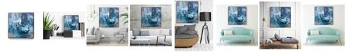 "Giant Art 20"" x 20"" Abstract Blues II Art Block Framed Canvas"