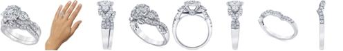 Macy's Diamond Halo Cluster Bridal Set (2 ct. t.w.) in 14k White Gold