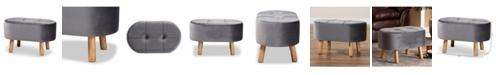 Furniture Furniture Simone Mid-Century Modern Upholstered Ottoman