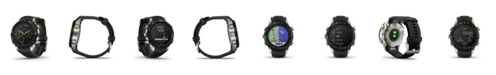 Garmin Mens Marq Athlete Black Silicon Strap Smart Watch, 46mm