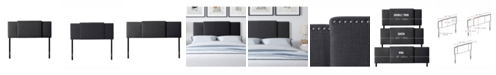 CorLiving Fairfield 3-in-1 Expandable Panel Fabric Headboard, Double, Queen or King