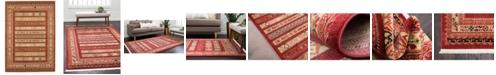 Bridgeport Home Ojas Oja4 Rust Red 7' x 10' Area Rug