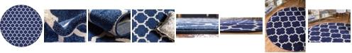 """Bridgeport Home Arbor Arb1 Dark Blue 12' 2"""" x 12' 2"""" Round Area Rug"""