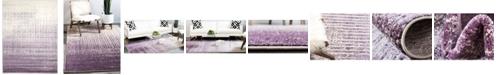 Bridgeport Home Lyon Lyo2 Purple 9' x 12' Area Rug