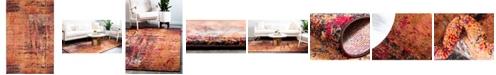 "Bridgeport Home Newwolf New3 Orange 10' 6"" x 16' 5"" Area Rug"