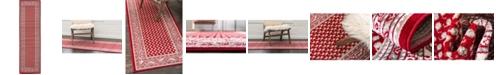 """Bridgeport Home Axbridge Axb1 Red 2' 9"""" x 9' 10"""" Runner Area Rug"""