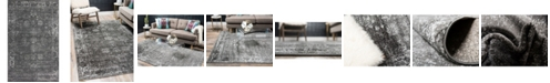 Bridgeport Home Basha Bas1 Dark Gray 5' x 8' Area Rug