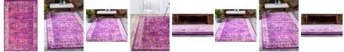 Bridgeport Home Linport Lin1 Lilac 4' x 6' Area Rug