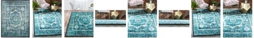 """Bridgeport Home Linport Lin7 Turquoise 13' x 19' 8"""" Area Rug"""