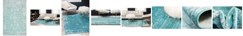 Bridgeport Home Basha Bas1 Turquoise 5' x 8' Area Rug