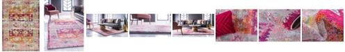Bridgeport Home Newhedge Nhg3 Pink 9' x 12' Area Rug