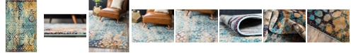 Bridgeport Home Brio Bri1 Blue 5' x 8' Area Rug