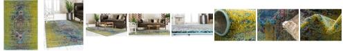 Bridgeport Home Brio Bri6 Green 4' x 6' Area Rug