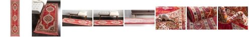 "Bridgeport Home Kenna Ken1 Red 2' 7"" x 10' Runner Area Rug"