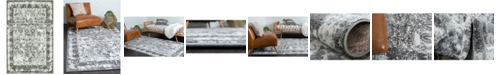 Bridgeport Home Mishti Mis3 Gray 4' x 6' Area Rug