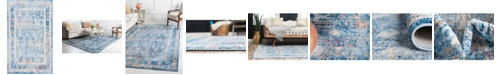 "Bridgeport Home Zilla Zil2 Blue 3' 3"" x 5' 3"" Area Rug"