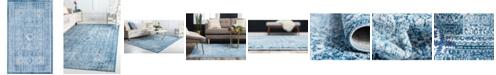 """Bridgeport Home Zilla Zil3 Navy Blue 3' 3"""" x 5' 3"""" Area Rug"""