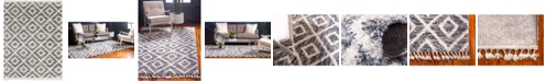 Bridgeport Home Lochcort Shag Loc2 Gray 9' x 12' Area Rug