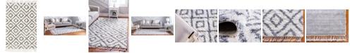 Bridgeport Home Lochcort Shag Loc2 Ivory 4' x 6' Area Rug