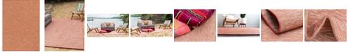 "Bridgeport Home Pashio Pas8 Terracotta 7' 5"" x 10' Area Rug"