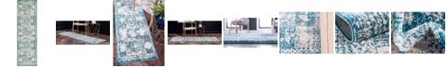 "Bridgeport Home Mobley Mob2 Turquoise 2' x 6' 7"" Runner Area Rug"