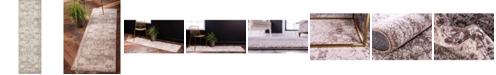 "Bridgeport Home Mobley Mob2 Light Brown 2' x 6' 7"" Runner Area Rug"