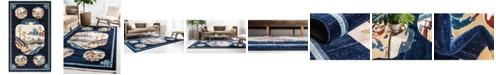 Bridgeport Home Sahil Sah3 Navy Blue 5' x 8' Area Rug