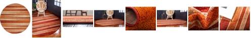 Bridgeport Home Jasia Jas12 Rust Red 8' x 8' Round Area Rug