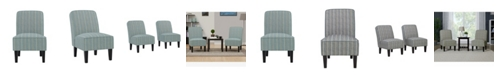 Handy Living Bryce Armless Accent Chairs, Set of 2