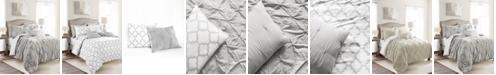 Lush Decor Ravello Pintuck Geo Reversible 7-Piece King Comforter Set