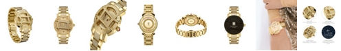 Jbw Women's Olympia Platinum Series Diamond (2 1/2 ct. t.w.) 18K Gold-Plated Stainless Steel Watch, 38Mm