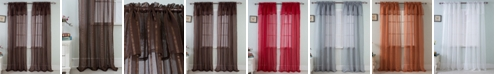 """RT Designers Collection Gretchen 54"""" x 90"""" Sheer Curtain Panel With Attached Valence"""