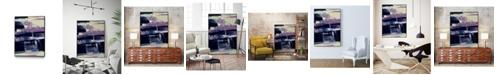 "Giant Art 36"" x 24"" Violet Fusion I Art Block Framed Canvas"