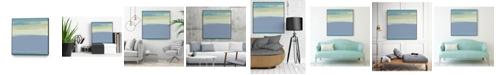 "Giant Art 30"" x 30"" Coast I Art Block Framed Canvas"