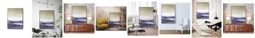 "Giant Art 24"" x 18"" Amethyst Sea II Art Block Framed Canvas"