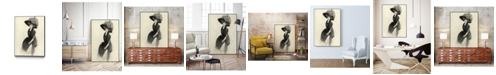 "Giant Art 40"" x 30"" Feather Hat II Art Block Framed Canvas"
