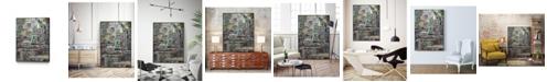 """Giant Art 32"""" x 24"""" Stack IV Art Block Framed Canvas"""
