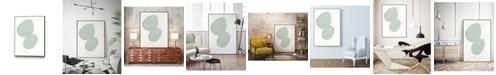"Giant Art 28"" x 22"" Implied Motif I Art Block Framed Canvas"