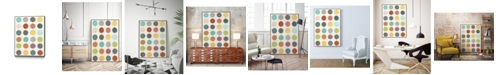 "Giant Art 24"" x 18"" Pattern Interaction III Art Block Framed Canvas"