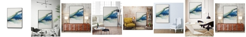 "Giant Art 36"" x 24"" Abstract Terrain IV Art Block Framed Canvas"
