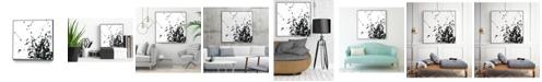 "Giant Art 30"" x 30"" Onyx Expression II Art Block Framed Canvas"