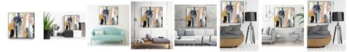 "Giant Art 30"" x 30"" Blueberry Swatches I Art Block Framed Canvas"