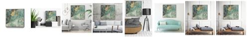 "Giant Art 20"" x 20"" Teal Lace I Art Block Framed Canvas"