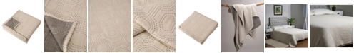 Glitzhome Full Queen Cotton Diamond Pattern Quilt