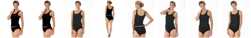 Instantfigure Swimwear Tankini Top with Super Slimming Control and Wide Straps