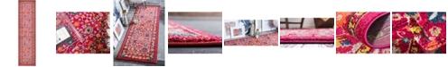 "Bridgeport Home Sana San5 Fuchsia 2' 7"" x 10' Runner Area Rug"