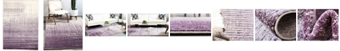 Bridgeport Home Lyon Lyo2 Purple 7' x 10' Area Rug