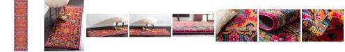 "Bridgeport Home Sana San7 Fuchsia 2' 7"" x 10' Runner Area Rug"