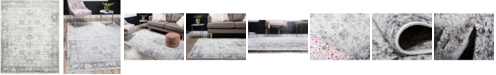 Bridgeport Home Basha Bas1 Gray 8' x 10' Area Rug