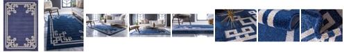 Bridgeport Home Anzu Anz3 Navy Blue 7' x 10' Area Rug